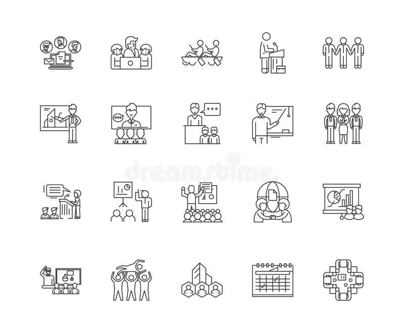 Biznesowych wydarze? kreskowe ikony, znaki, wektoru set, kontur ilustracji poj?cie ilustracji