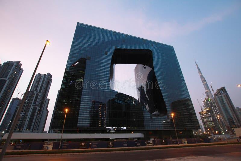 Biznesu Dubai Podpalany Buduje hotel obrazy stock