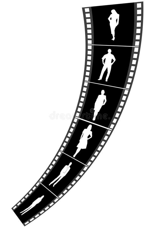 biznesu filmu ludzie paska ilustracja wektor