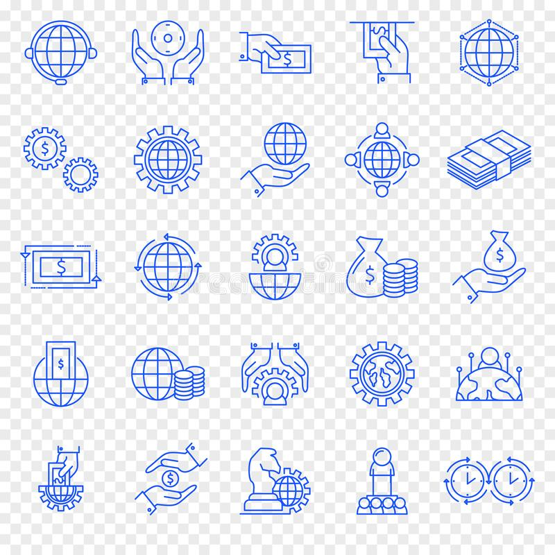 biznesu finansowy ikony set 25 ikona ilustracji