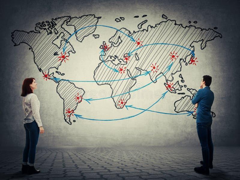 Biznesu handlu mapa ilustracja wektor