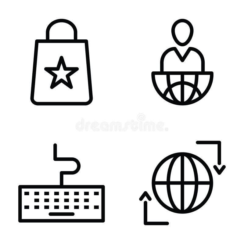 Biznesu I finanse ikon kreskowa paczka royalty ilustracja