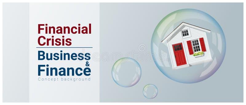 Biznesu i finanse pojęcia tło z lokalowym bąblem ilustracja wektor