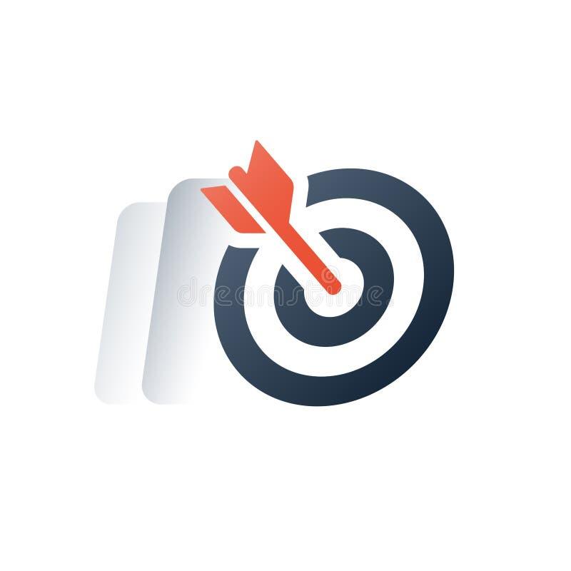 Biznesu i finanse rozwiązanie, zarządzanie projektem, cel grupy strategia marketingowa, post usługa, kurs treningowy ilustracji