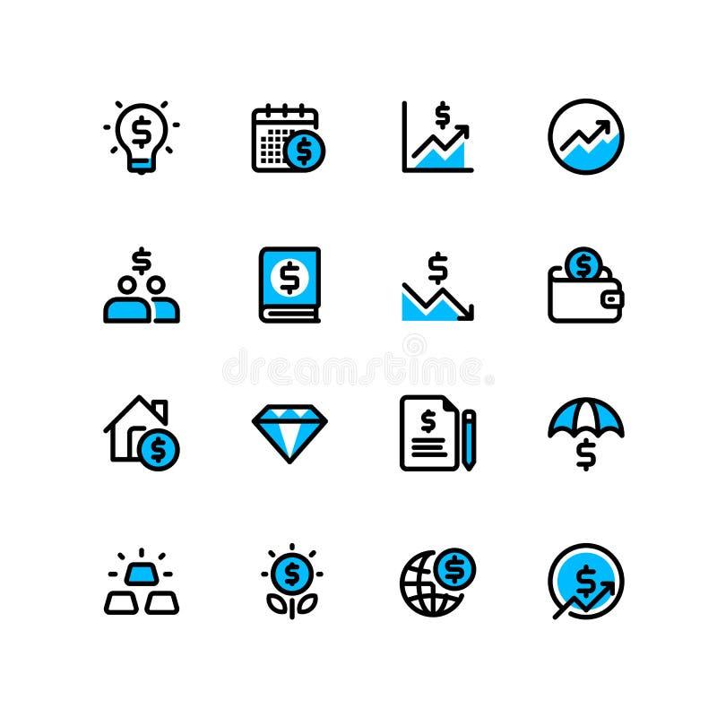Biznesu i finanse sieci ikona royalty ilustracja
