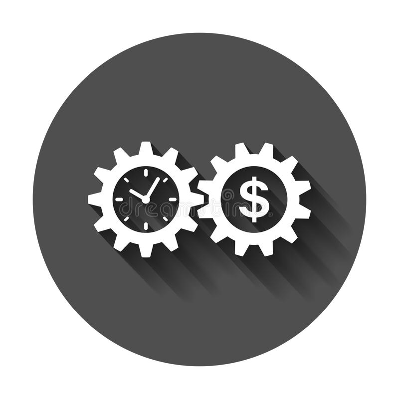 Biznesu i finanse zarządzania ikona w mieszkaniu projektuje Czas jest mone royalty ilustracja