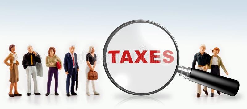 Biznesu i podatków pojęcie obraz royalty free