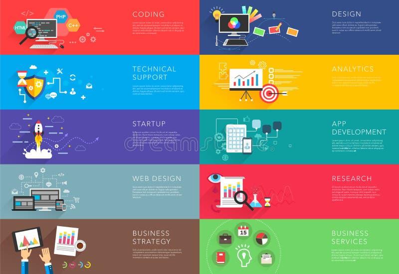 Biznesu i rozwoju szablony wektorowi ilustracja wektor