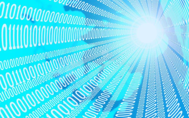 Biznesu, interneta i technologii pojęcie, - zamyka up dane strumień ilustracja 3 d ilustracja wektor