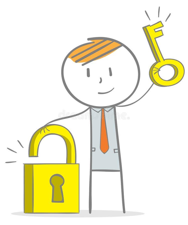 Biznesu klucz sukces ilustracja wektor