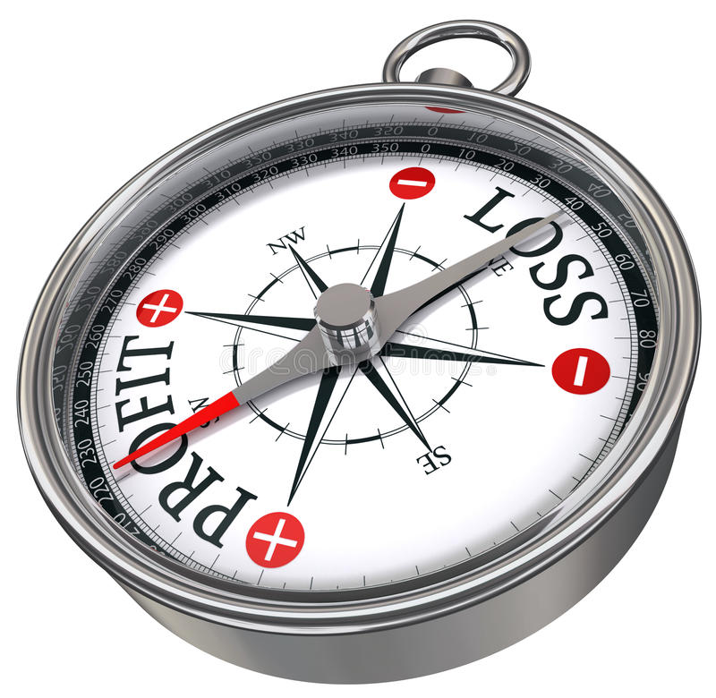 biznesu kompasu zysk royalty ilustracja