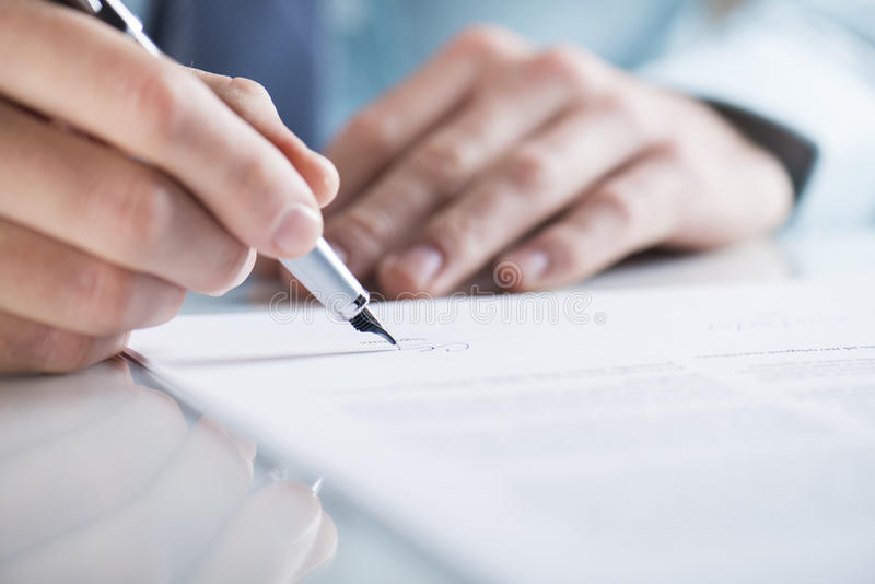 Biznesu kontrakt obraz stock