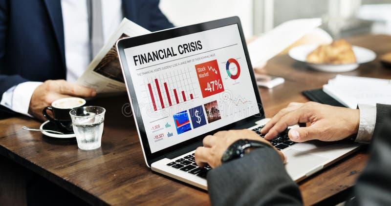 Biznesu kryzysu Graficznych dane Finansowy pojęcie obraz royalty free