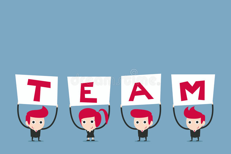 Biznesu mienia drużynowy znak ilustracji