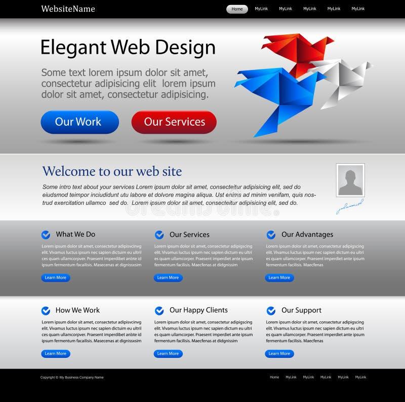 biznesu srebna szablonu strona internetowa ilustracja wektor