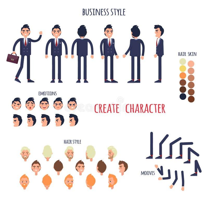 Biznesu styl Tworzy Twój charakteru wektoru plakat royalty ilustracja