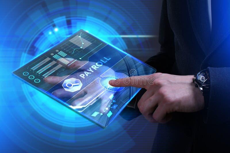 Biznesu, technologii, interneta i sieci pojęcie, Młody busine ilustracji