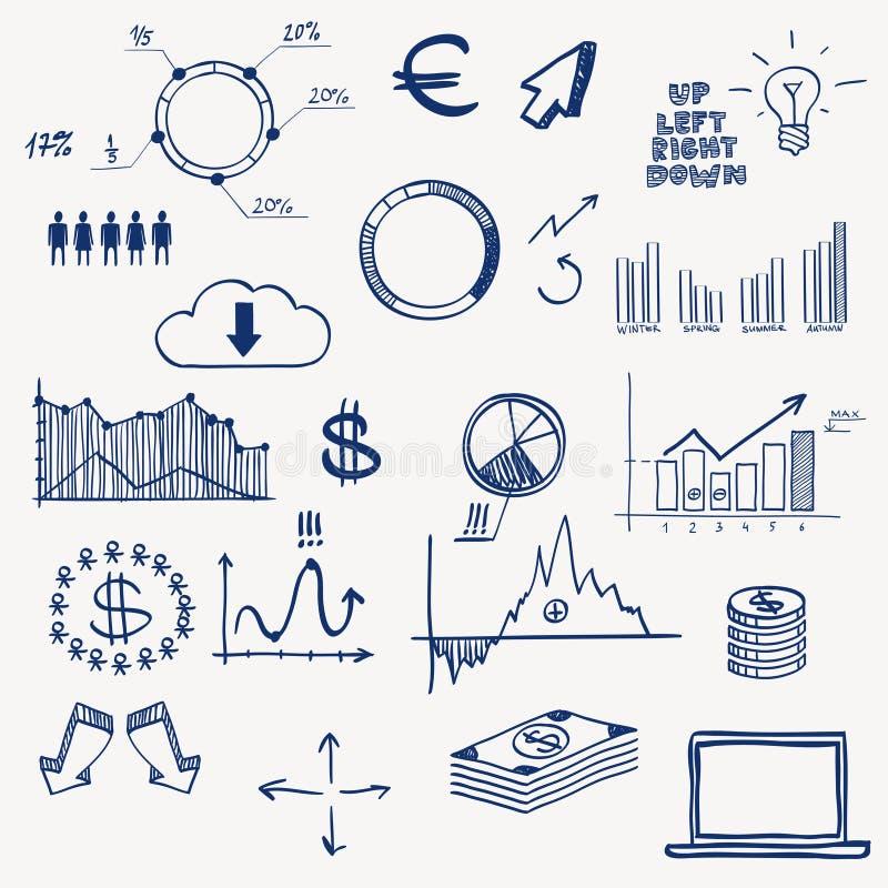 Biznesu zarządzania infographics finansowy socjalny ilustracji