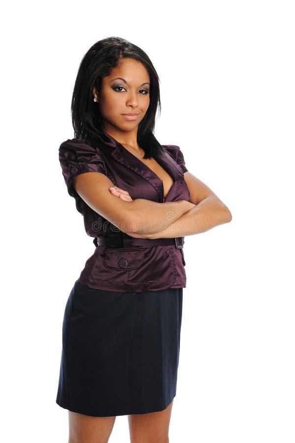 bizneswomanów czarny potomstwa zdjęcie stock