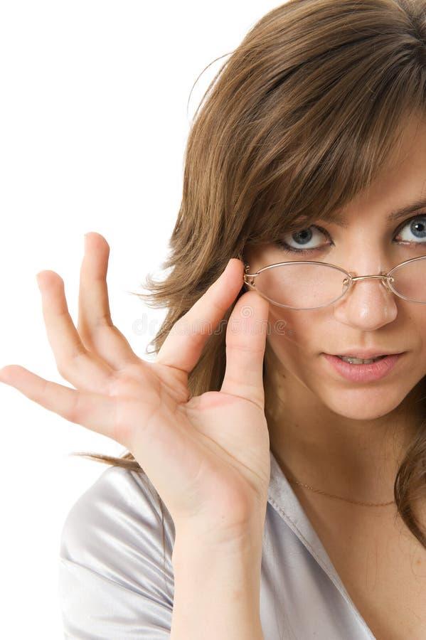 bizneswomanów nosić okularów, zdjęcie stock