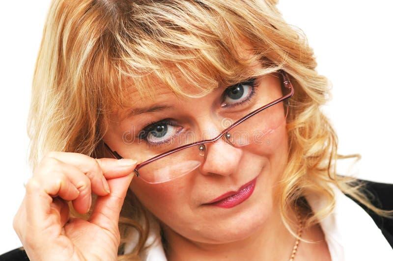 bizneswomanów okulary zdjęcie stock