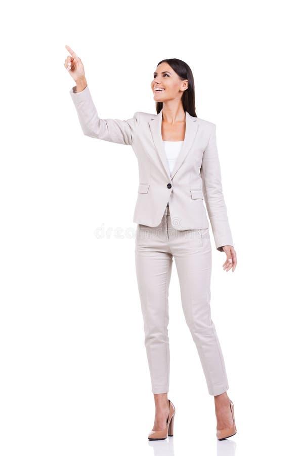 bizneswoman ciekawy zdjęcie stock