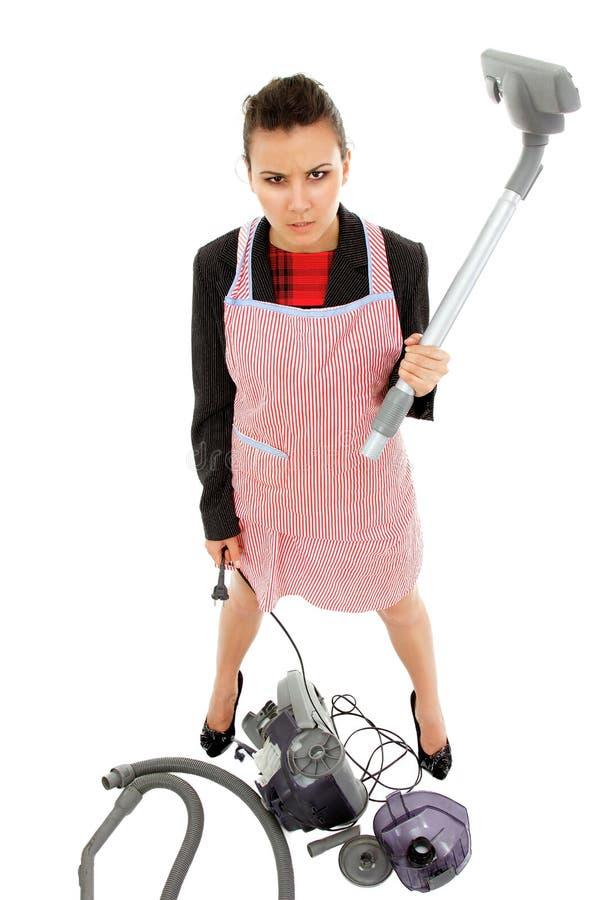 Bizneswoman i gospodyni domowa męczyliśmy - ogólnoludzkiej super kobiety zdjęcia stock