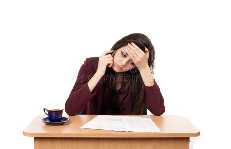 bizneswoman migrena zdjęcie royalty free
