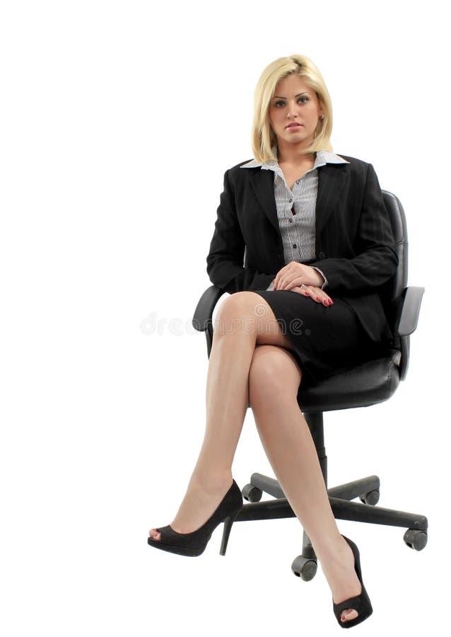 bizneswoman odizolowywający fotografia stock