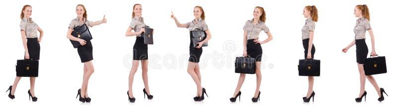 Bizneswoman odizolowywający na bielu obrazy stock