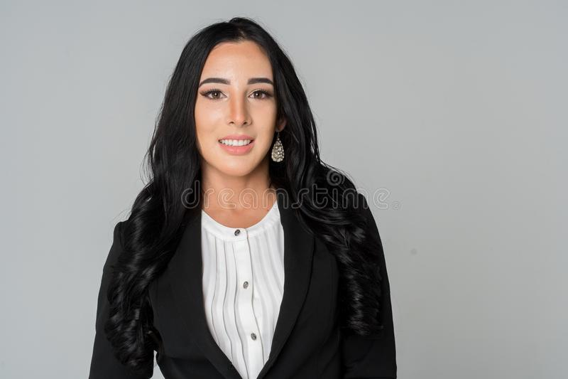 Bizneswoman przy pracą fotografia stock