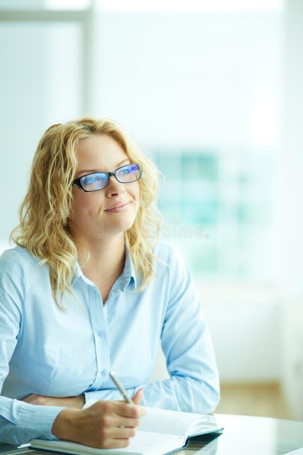 Bizneswoman przy pracą obraz stock