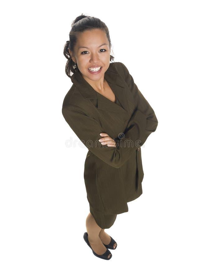 Bizneswoman - ręki krzyżować obraz stock
