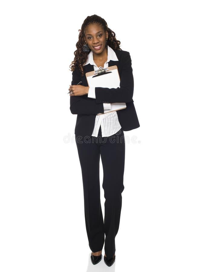 Bizneswoman - schowek zdjęcie stock