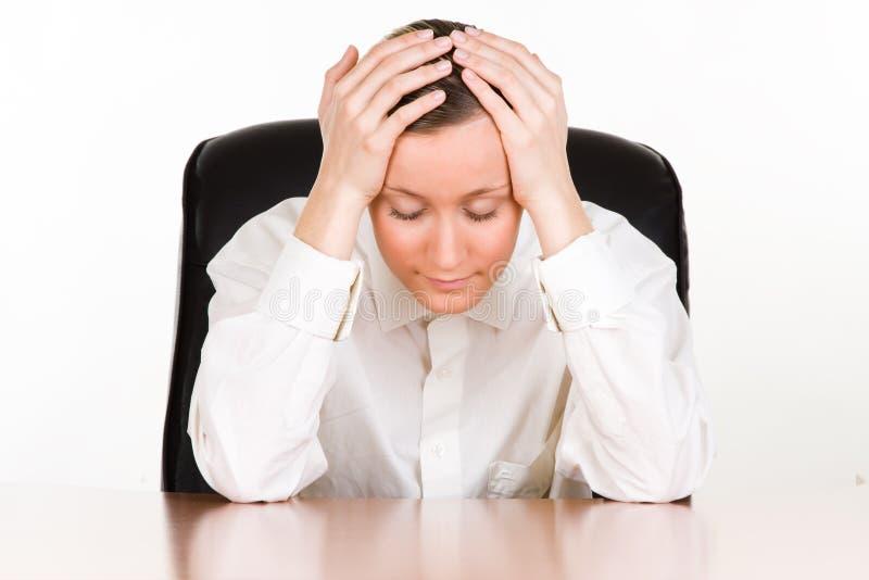 bizneswoman stresujący się fotografia stock