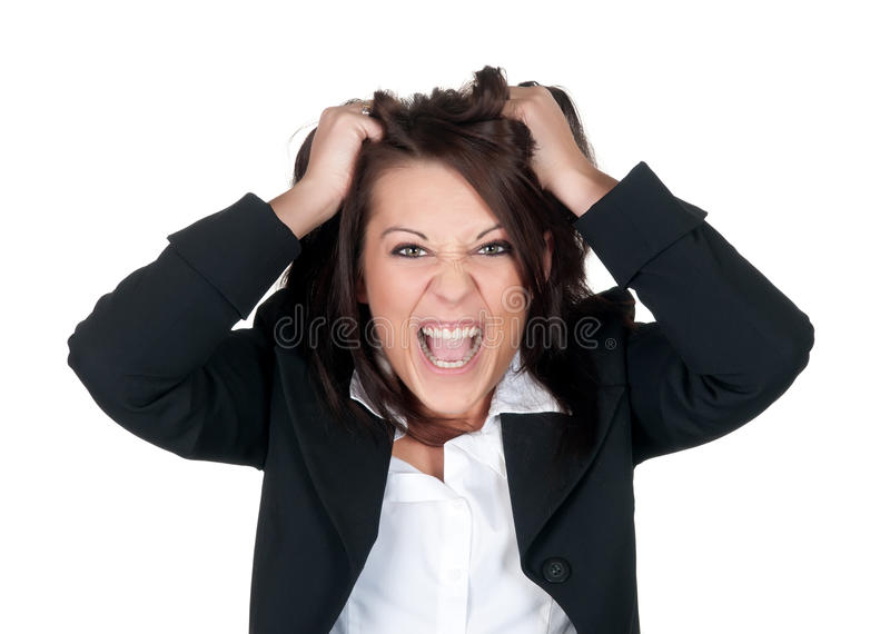 bizneswoman stresujący się zdjęcia royalty free