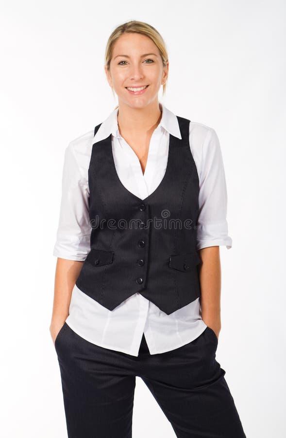 bizneswoman szczęśliwy obrazy stock