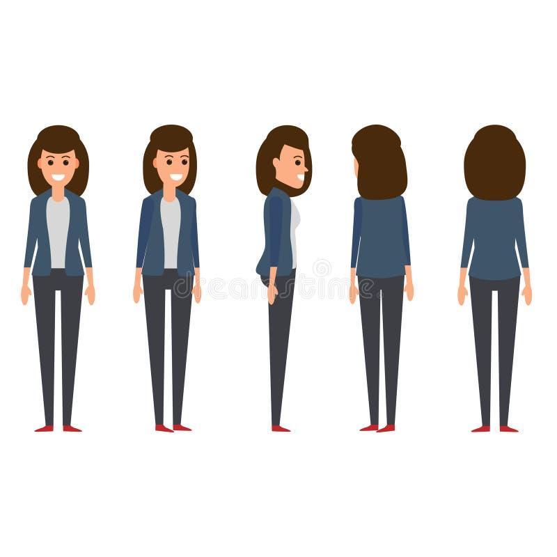 Bizneswoman ustawia 1 ilustracji
