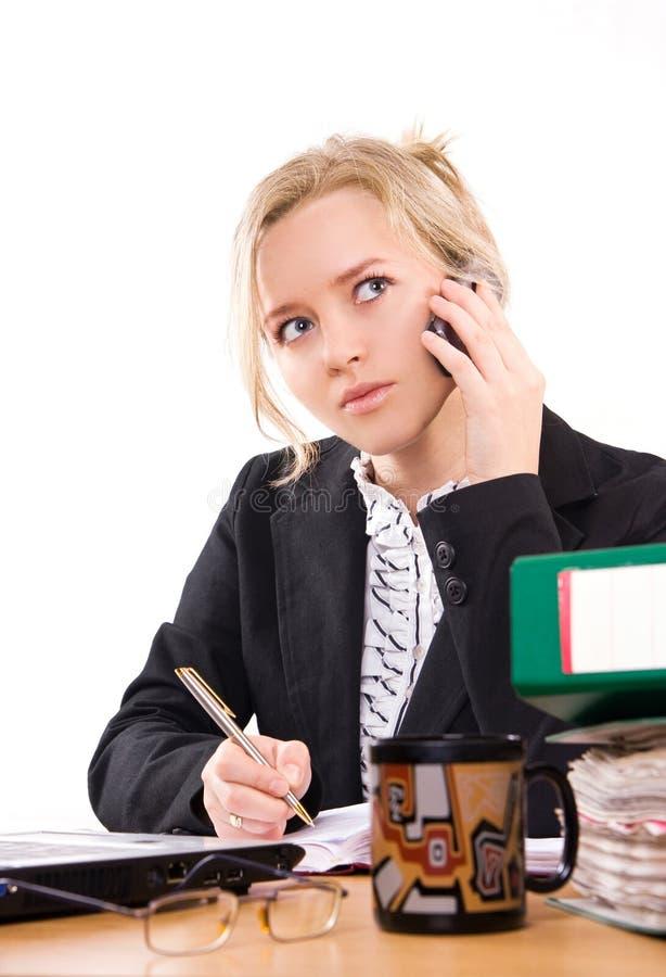 Bizneswoman W Biurze Bezpłatne Zdjęcie Stock