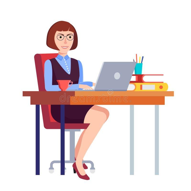 Bizneswoman w biurze ilustracji