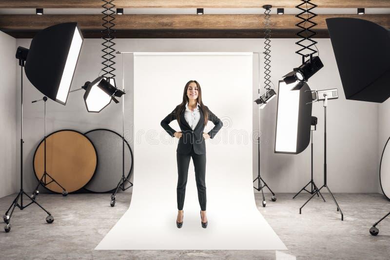 Bizneswoman w fotografii studiu zdjęcia royalty free
