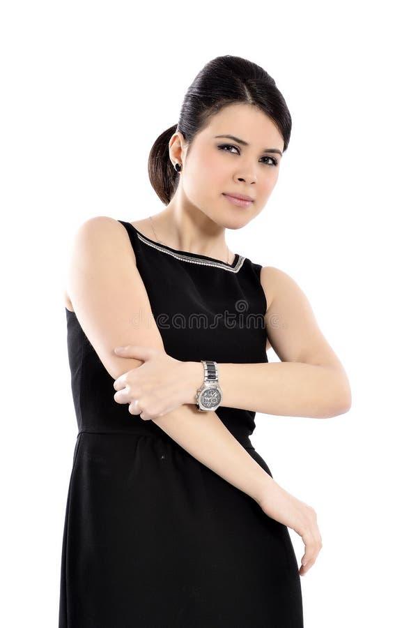 Bizneswoman z łokcia bólem zdjęcia stock