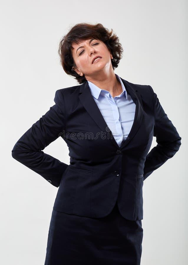 Bizneswoman z b?lem plec?w obraz royalty free