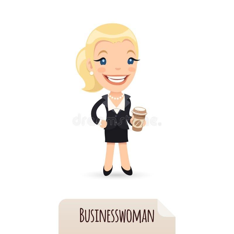 Bizneswoman z cofee royalty ilustracja