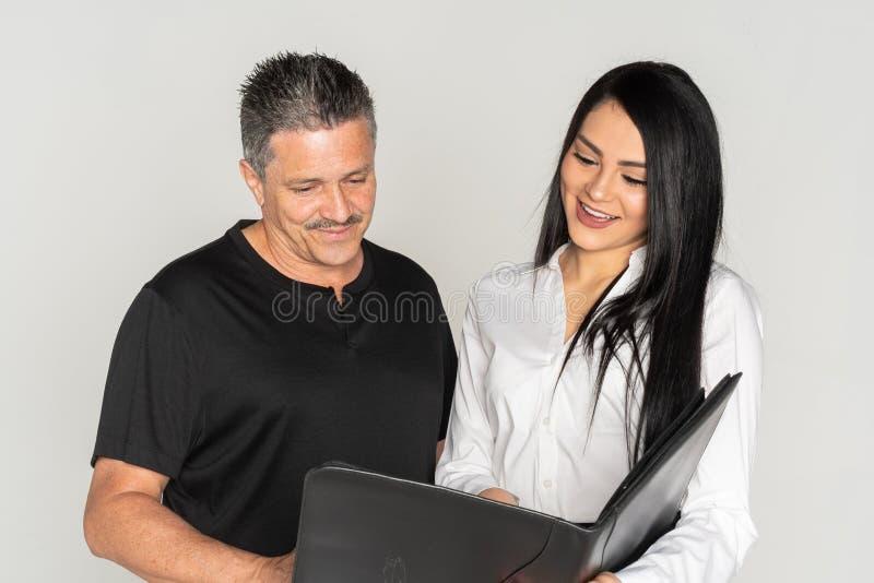 Bizneswoman Z Jej Starszym klientem fotografia royalty free