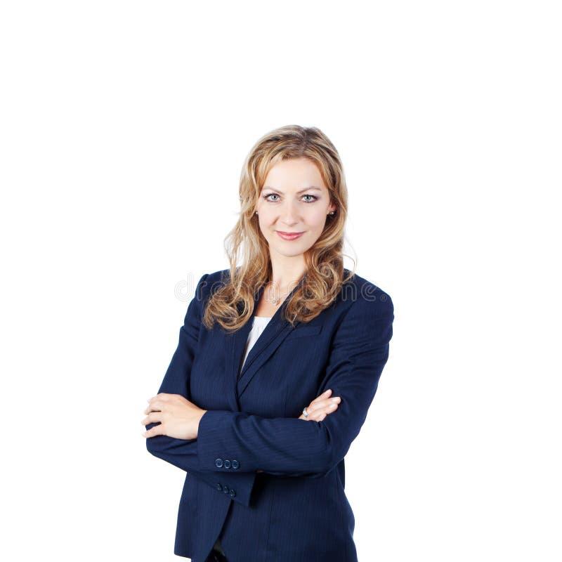 Bizneswoman Z rękami Krzyżować fotografia stock