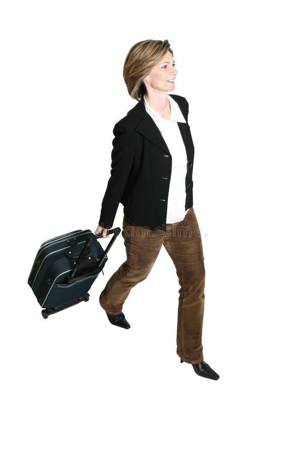 bizneswomanu bagażu fotografia stock