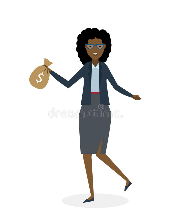 Bizneswomanu bieg na bielu ilustracji