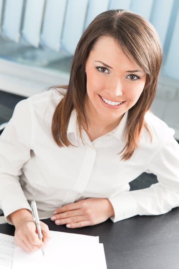 bizneswomanu biuro obraz stock