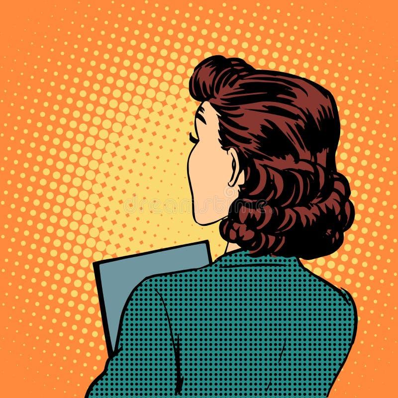 Bizneswomanu biznesu tylny styl royalty ilustracja